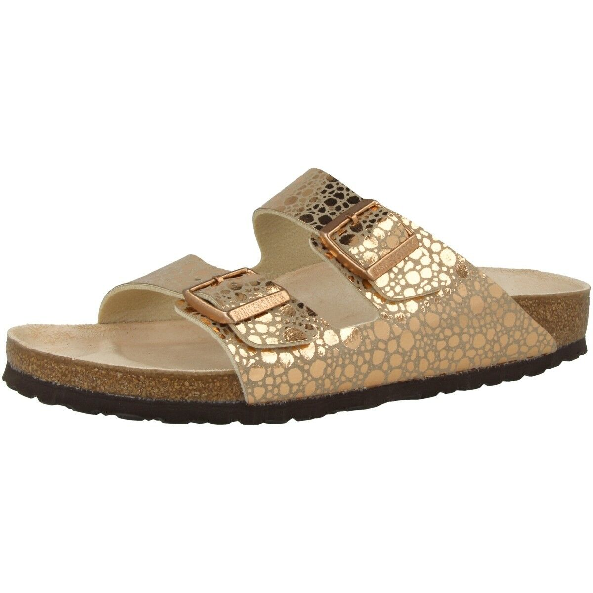 Birkenstock Arizona Birko-Flor Schuhe Sandale Metallic Weite schmal 1006685