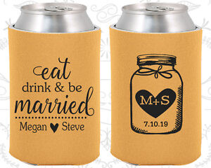 245 Fisherman Wedding Favors Details about  /Wedding Favor Koozies Cheap Beer Can Koozie Ideas