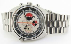 Un-polished-Vintage-Omega-Seamaster-Chronograph-Steel-Soccer-Time-Watch-145-019