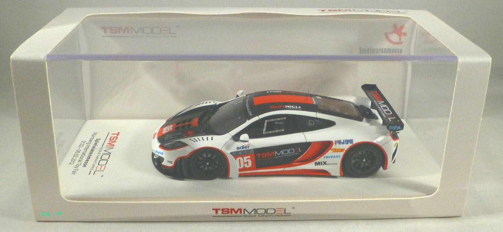 MCLAREN MP4 12C GT3  5 Spielwarenmesse Toy Fair Nurnberg 2012 TSM TRUESCALE 1 43