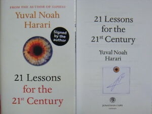 Signed-Book-21-Lessons-for-the-21st-Century-by-Yuval-Noah-Harari-2018-1st-Edn