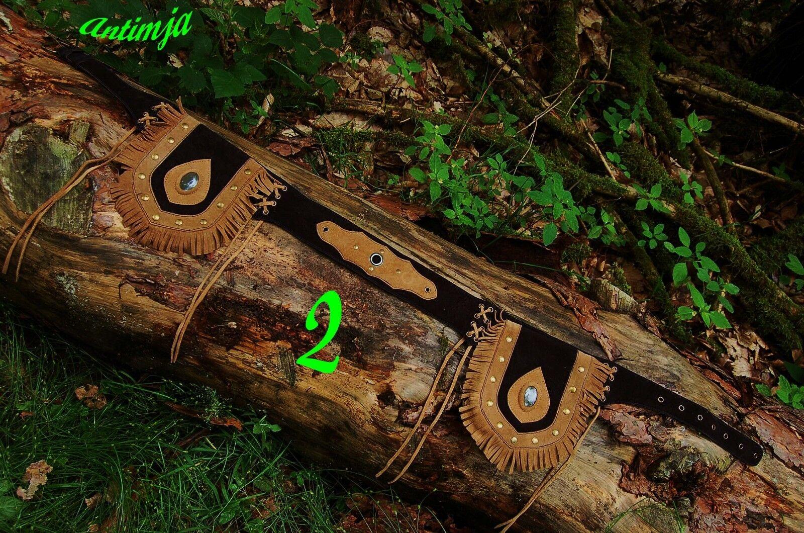 Gürtel/Bauchtasche Hippie Echtleder Hippie Gürtel/Bauchtasche Goa Mittelalter Biker Geldgürtel Reisegürtel 464c21