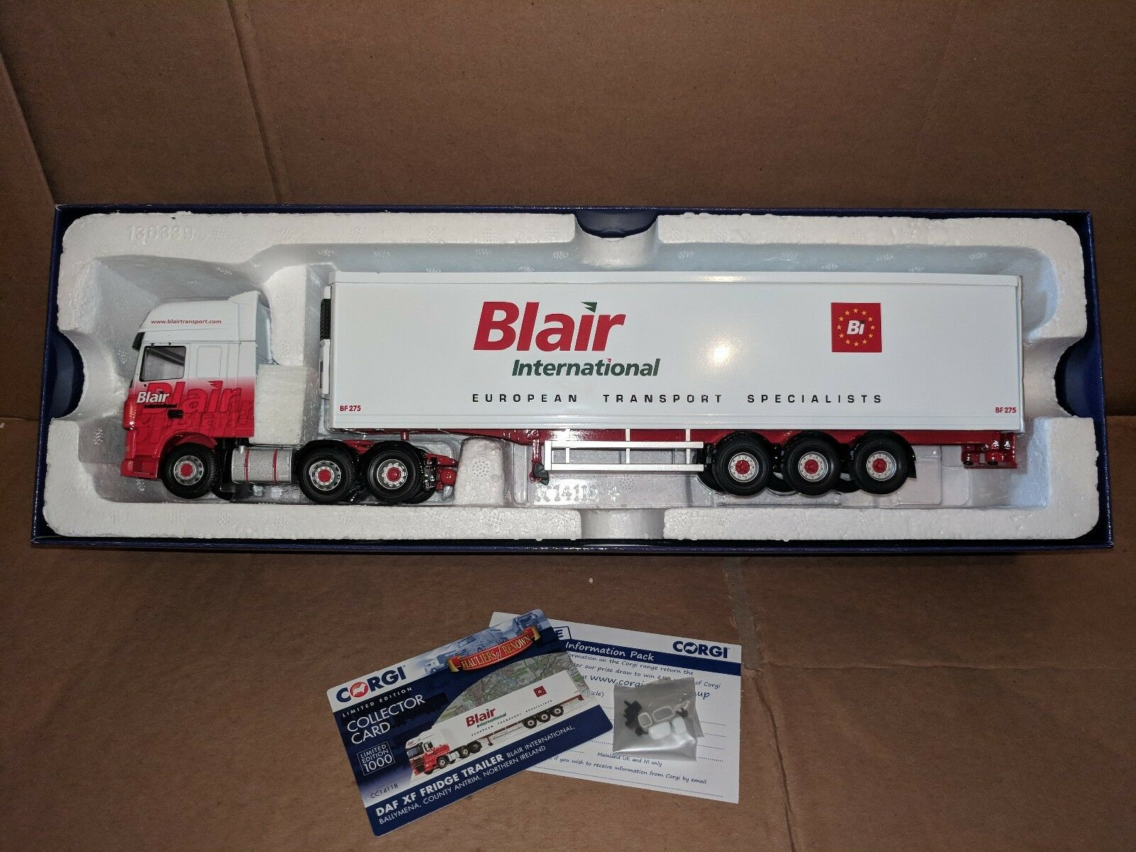 Corgi DAF XF & Hierba Remolque-Blair Internacional-Irlanda
