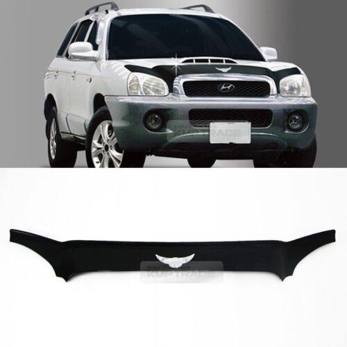 Emblem Hood Guard Bug Shield Molding Black for HYUNDAI 2002-2005 Santafe