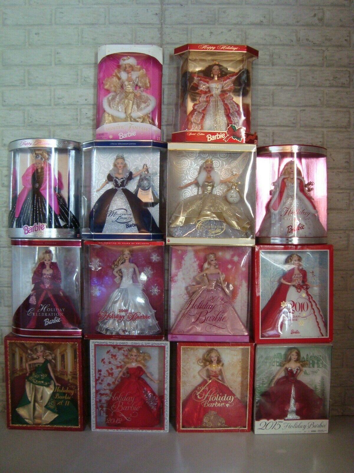 Lot 14 HAPPY HOLIDAYS Special Edition CELEBRATE Millennium BARBIE Doll NEW NRFB