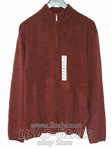 NEW-Mens-Geoffrey-Beene-Sweater-Long-Sleeve-Pullover-Taupe-Burgundy-XXL