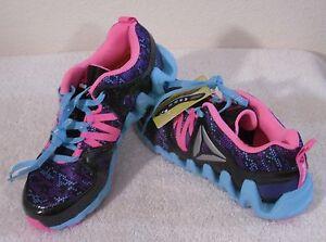 439fccea8ad0 NEW Reebok Zig Big N  Fast Fire GR Grade School Girls Shoes 6.5 ...