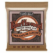 ERNIE Ball Earthwood Phosphor Bronze Medio Luce ACUSTICA CHITARRA corde 12-54