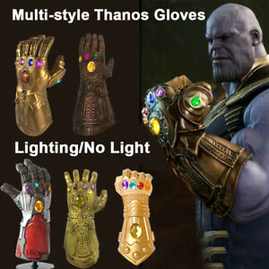 Adult-Children-Cosplay-Avengers-Thanos-Infinity-Gauntlet-LED-Light-Gloves-Props