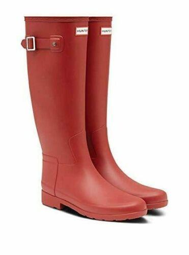 Hunter Original raffiné rouge écarlate Femme Bottes Taille UK 4