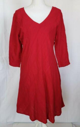 Soft Surroundings Petite Pink Linen Blend Dress Pe