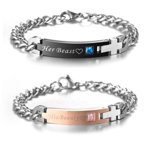 """Bracelet en acier inoxydable pour amant//Couple /""""Arbre Amour/""""/"""" je fais moi aussi /""""Bracelet"""