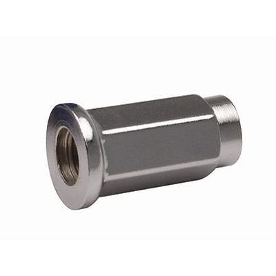 ITP Flat Base Chrome Lug Nut 10mm x 1.25mm Thread Pitch w/ 14mm Head (Set of 4)
