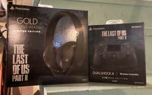 The-Last-of-Us-Part-2-Gold-Wireless-HEADSET-amp-CONTROLLER-Limited-Edition-PS4-NEW