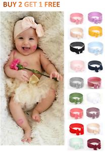 Baby-Nylon-Soft-Bow-Head-Wrap-Turban-Top-Knot-Headband-Baby-Girl-Headbands