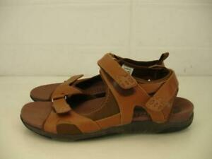 aa85baf88 Details about Mens sz 9 D M Propet Hornsby Brown Tan Leather Sandals Sport  Water Shoes Comfort