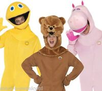 Mens Zippy Bungle George Rainbow 80s 90s Suit Stag Do Fancy Dress Costume Outfit
