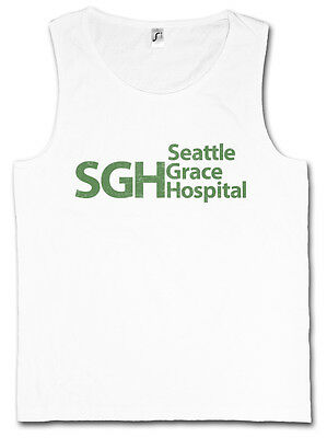 SEATTLE GRACE HOSPITAL DAMEN TANK TOP SGH Anatomy Fun Logo Room Symbol Emergency