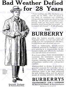 ADVERT CLOTHING FASHION STYLE COAT JACKET GENTLEMEN UK ART PRINT POSTER BB6809