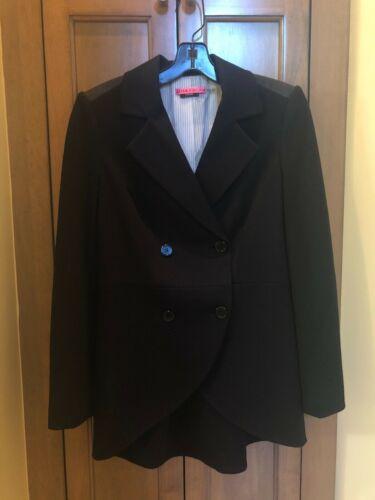 Alice & Olivia Black Tuxedo Style Jacket Med