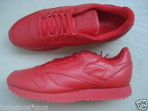 Red Leather red Reebok 5 Classic Ripple 45 nCPxpx74a