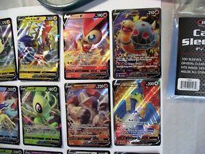 Pokemon-Tarjeta-Lot-10-oficial-Trading-Card-Game-Tarjetas-tres-incluido-GX-de-ultra-raras-ex-V-Vmax