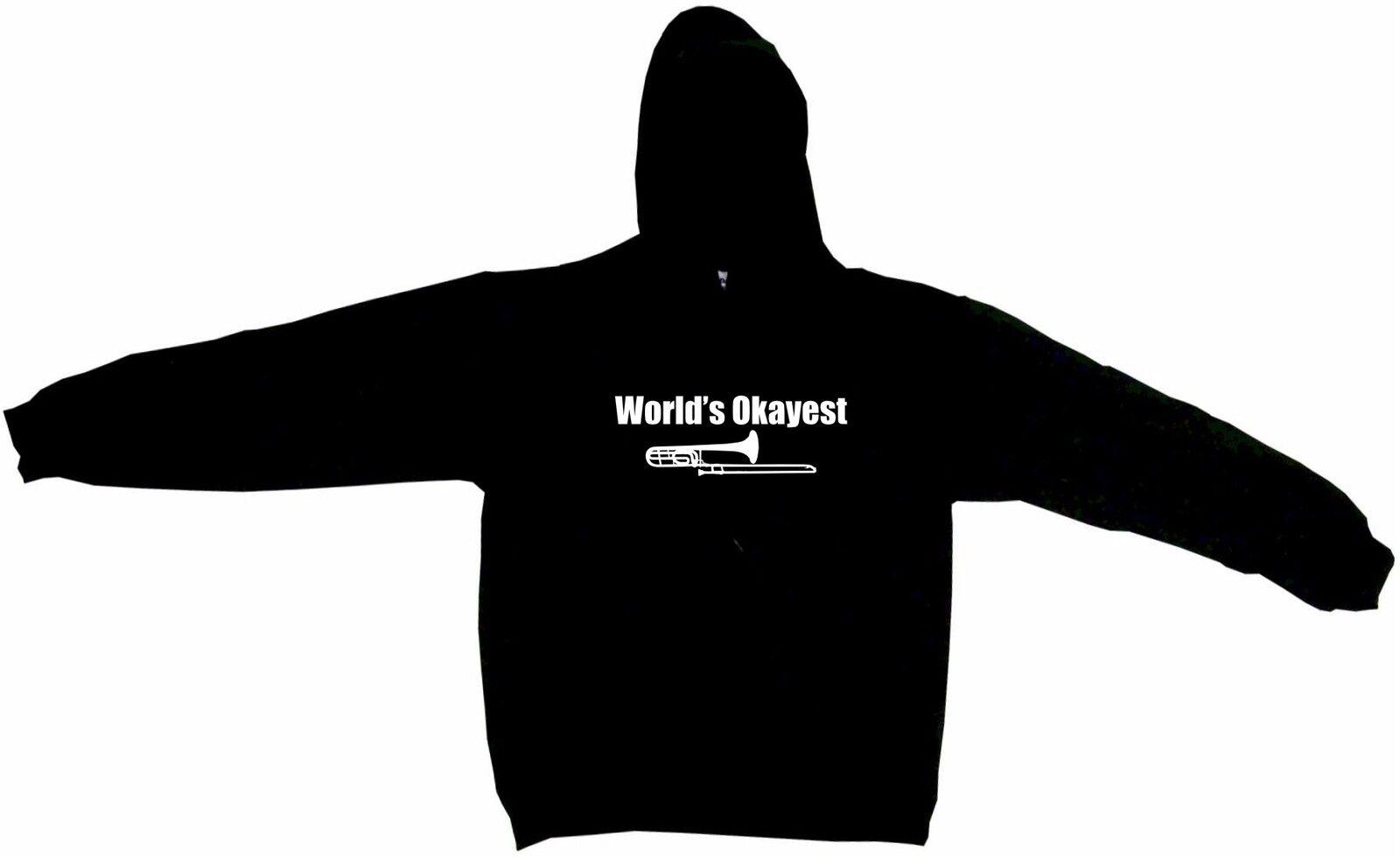 World's Okayest Trombone Player Logo Hoodie Sweatshirt
