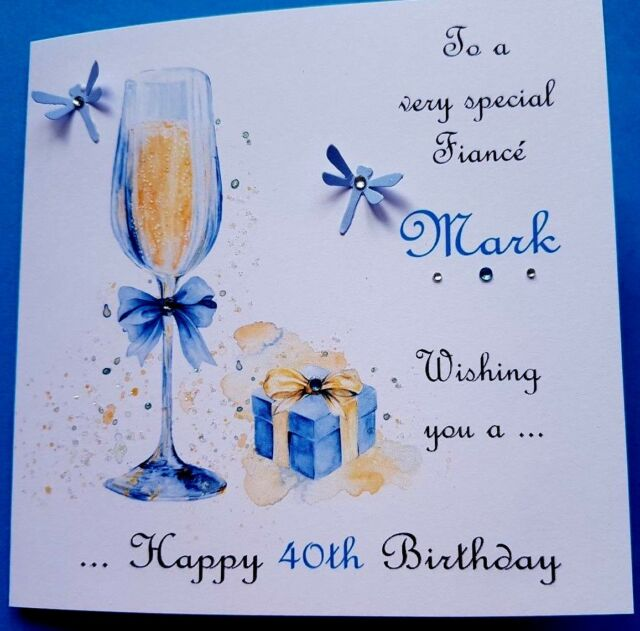 Personalised Handmade Birthday Card Fiance Son Grandson Brother Dad Uncle Nephew