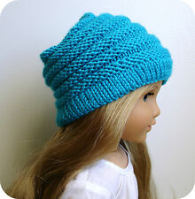 Knitting Pattern Sophie Slouchy Hat For American Girl Doll 18 Inch Doll Clothes