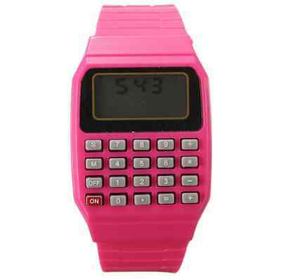 Cute Children Silicone Date Multi-Purpose Electronic Wrist Calculator Watch one