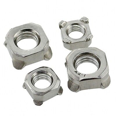 M4 M5 M6 M8 M10 Square Nuts Welding Nuts 304 A2 Stainless Steel DIN928