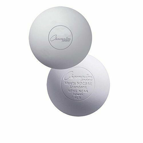 Champion Sports Official Size Rubber Lacrosse Ball Pack of 12 White