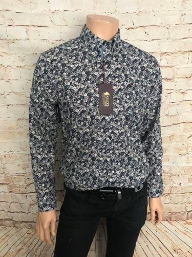 Cotton Gabicci Casual Shirt Navy//White Floral,New Design BNWT Size Medium