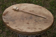 Schamanen Trommel 48x36cm Rehfell mit Hörprobe - Shaman Drum Roe deer hide