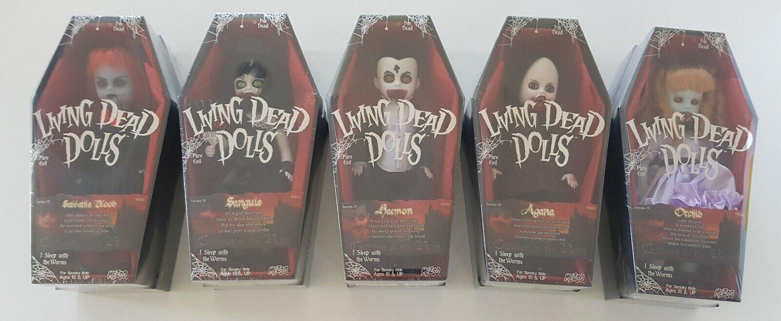 Living Dead Dolls Serie 19 Sellado conjunto nuevo, sin usar Mezco Ldd