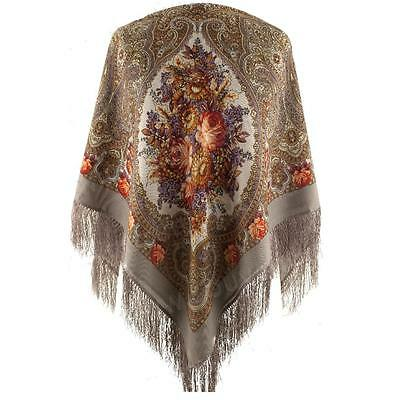 Pawlow Posad russischer Schal-Tuch Tradition 125x125 Wolle 1471-2