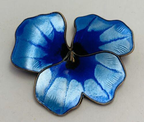 David Andersen Norway Sterling Silver Blue Pansy … - image 1