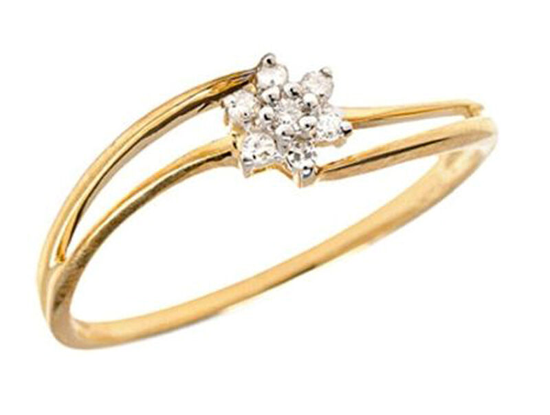 0.35ct Diamond 14k Yellow gold Well Crafted Women's Christmas Engagement Ring
