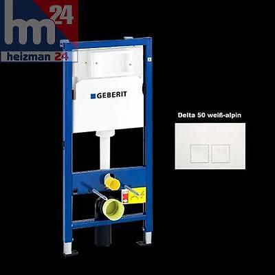 GEBERIT DUOFIX BASIC WC Vorwandelement UP100 mit Delta 50 weiß 458103001