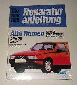 repair manual alfa romeo 75 twin spark v6, from year 1987image is loading repair manual alfa romeo 75 twin spark v6
