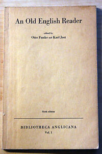 An-old-English-Reader-ed-by-O-Funke-K-Jost-Bibliotheca-Anglicana-Vol-1