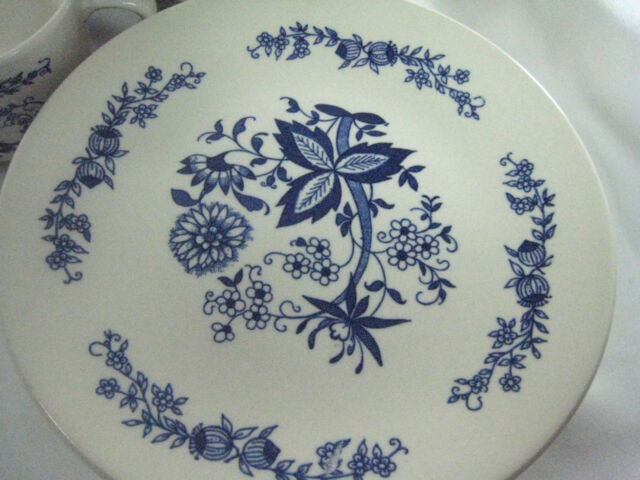 VINTAGE Azulejo Anfora Bowl (s) Painted Mexican Flowers & Blue Onion