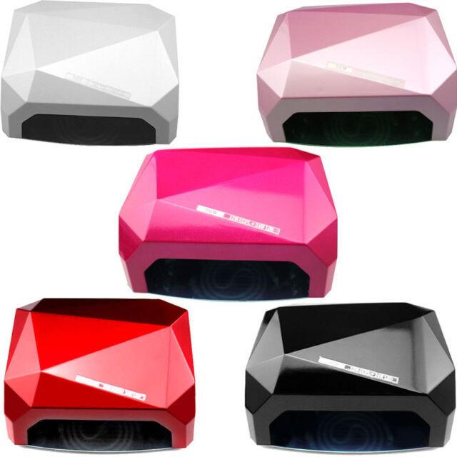 36W LED CCFL Nail Dryer Diamond Shaped Curing Lamp Tool for UV Gel Nail Polish