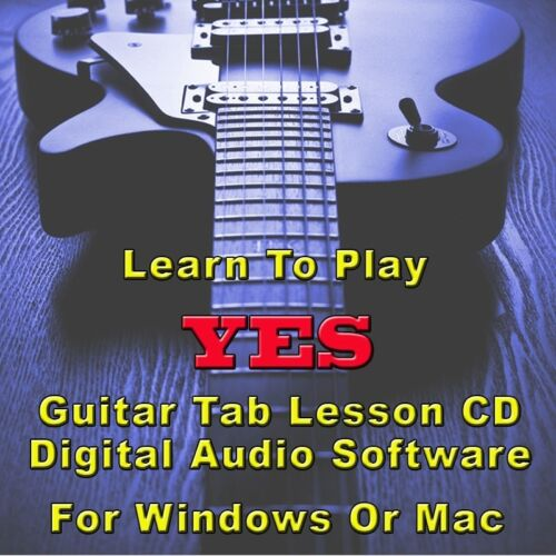 39 Songs YES Guitar Tab Lesson CD Software