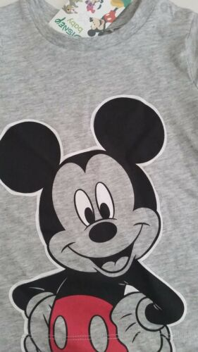 DISNEY MICKEY MOUSE Baby Boy Licensed tee t shirt top grey NEW sizes 000-1