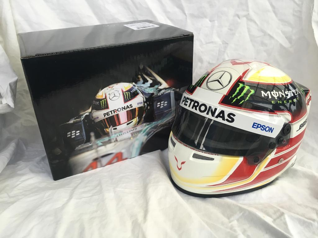 F1 CASQUE HELMET 1 2 HAMILTON MERCEDES 2015