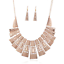Fashion-Women-Crystal-Bib-Pendant-Choker-Chunky-Statement-Chain-Necklace-Earring thumbnail 130