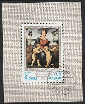 Stamps Friendly V3119 Fujeira/ Gemälde Minr Block 35 A O