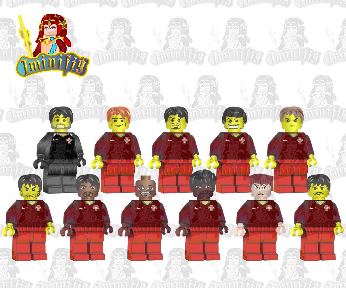 Lego Personalizado FIFA 2018 World Cup Portugal Equipo Fútbol Balonpié 11 jugadores Ronaldo