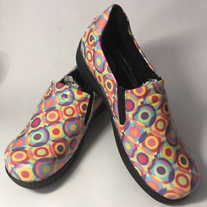 Easy-Works-Easy-Street-Bind-Clogs-Comfort-Work-Nurse-Shoes-Circle-Dot-Multi-12WW